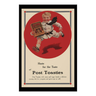 Post Toasties Vintage Advertisement Poster