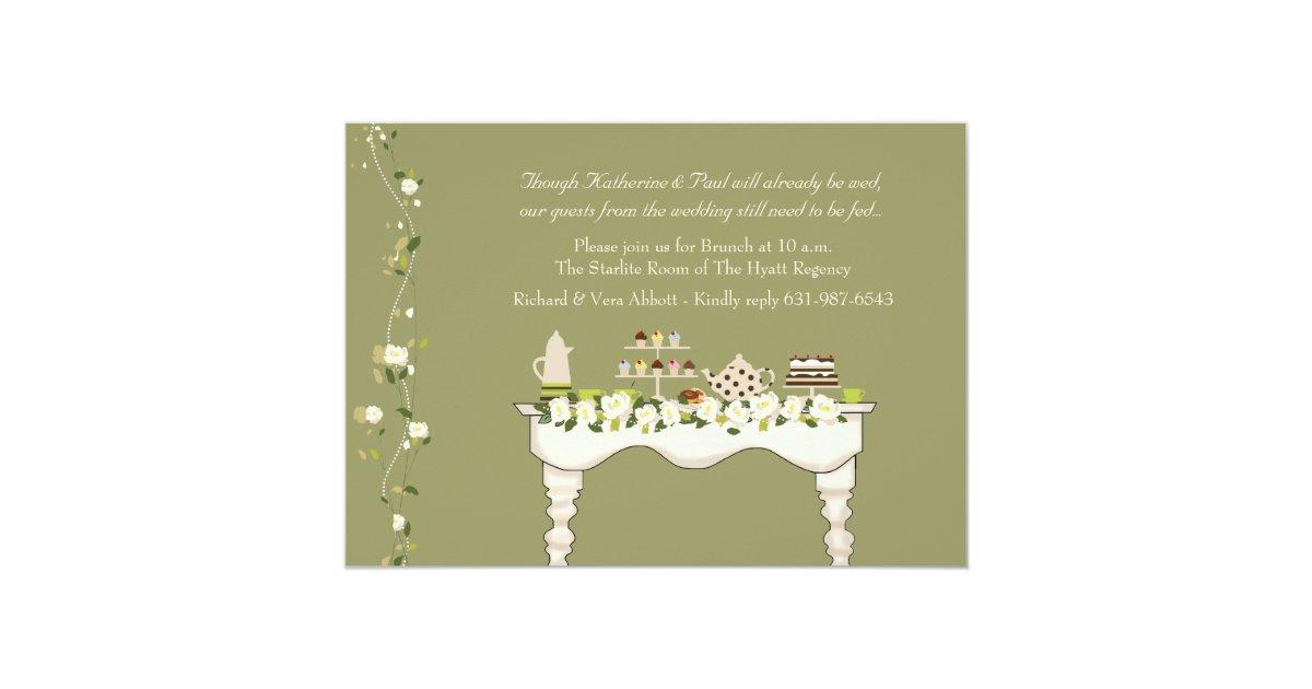 Post Wedding Brunch Invitation You Pick Colour
