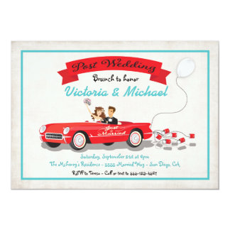 Post Wedding Brunch Reception car Invitation