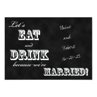 Post Wedding Reception Invitation -- Chalkboard