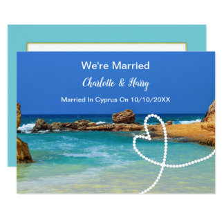 Post Wedding Reception Party Married In Cyprus Card