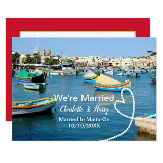 Post Wedding Reception Party Married In Malta Card