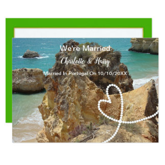 Post Wedding Reception Party Married In Portugal Card