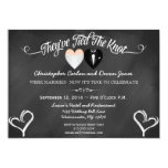 "Post Wedding Trendy Chalkboard Invitation 5"" X 7"" Invitation Card"