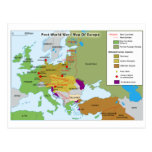 Post World War I Map of Europe Post Card