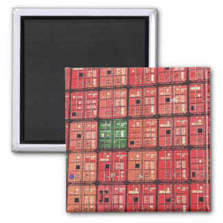 Postage or Rotterdam containers Square Magnet