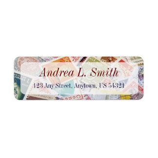 Postage Stamps Philatelic Ephemera Address Label