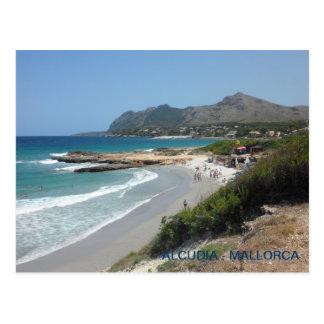postal beach of Alcudia, Majorca, Majorca. Postcard