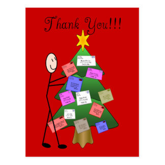 Postal Letter Carrier Thank You Cards Postcard