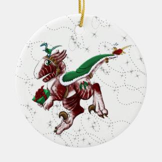 Postal Shivae Round Ceramic Ornament