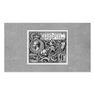 Postal Union Congress 1929 1 Pound Postage Stamp Business Card