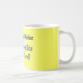 "Postal Worker Rain Sleet Snow ""STAYING HOME"" Coffee Mug"