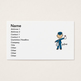 Postal Worker Stick Figure Business Card