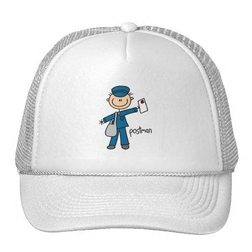 Postal Worker Stick Figure Hats