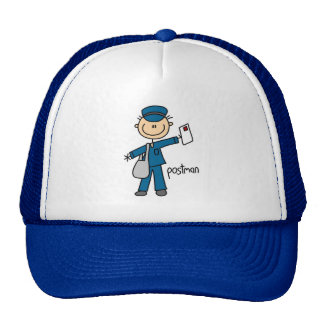 Postal Worker Stick Figure Trucker Hat