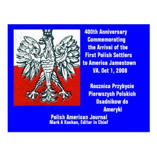 ..Postcard 400th Anniv. First Polish  - Customized Postcard