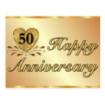 Postcard - 50th Anniversary - Gold