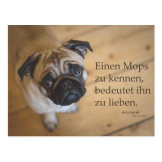 """Postcard """"a pug to know…."""