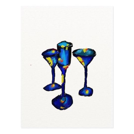 Postcard, Abstract, Glasses Postcard
