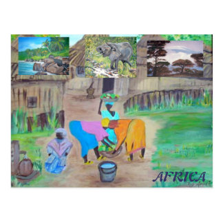 Postcard - Africa