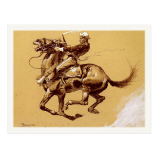 Postcard Art With Frederic Remington Painting