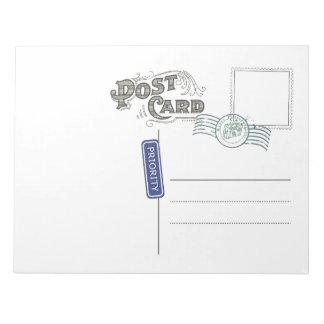 Postcard Backside Notepad