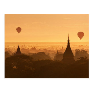 Postcard Bagan City in Mandalay Area, Burma