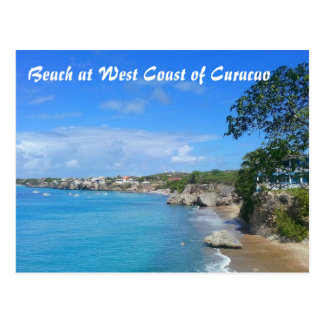 Postcard Beach at West Coast of Curacao