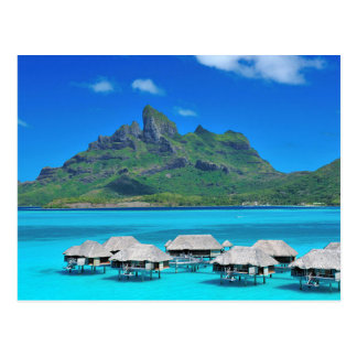 Postcard Bora Bora, Under-The-Wind, French