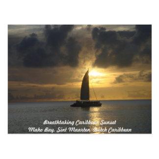 Postcard: Breathtaking Caribbean Sunset Postcard