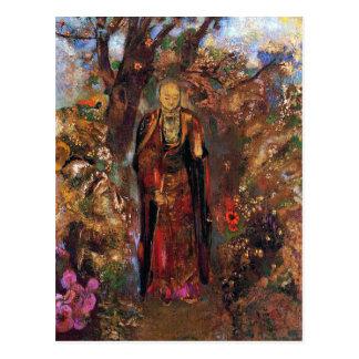 Postcard:  Buddha Walking Among the Flowers Postcard