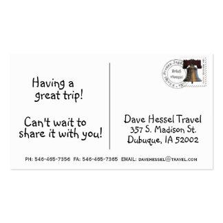 Postcard Business Card