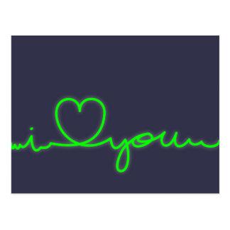 Postcard Cardiogram I love you