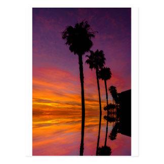 Postcard Carlsbad, California sunset