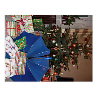 Postcard - Christmas with the blue screen