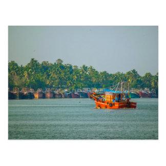 Postcard - Colorful Fishing Trawler, Kerala