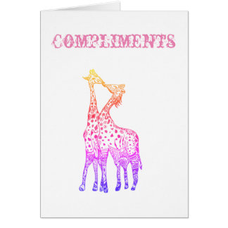 Postcard Compliments and Love Colorful African