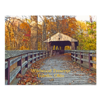 "postcard, ""Covered Bridge at Wildwood Preserve"" Postcard"