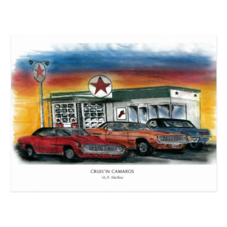 Postcard - Cruis'in Camaros