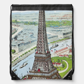 Postcard depicting the Eiffel Tower Backpack