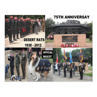 Postcard Desert Rats 75th Anniversary Celebrations