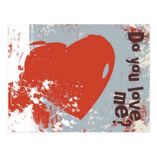 Postcard - Do you love me?
