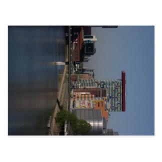 Postcard Duesseldorf medium port