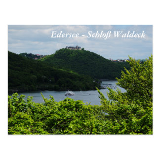 Postcard Edersee - closed forest-hit a corner