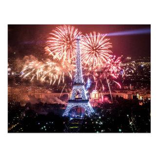 Postcard Eiffel Tower, Paris France