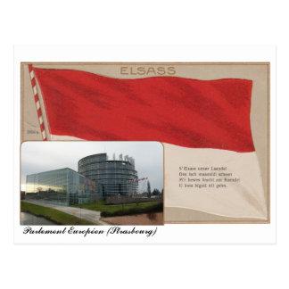 """Postcard """"Elsass"""" the European Parliament"""