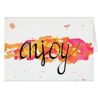 """Postcard """"Enjoy """""""