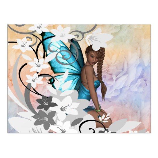 Postcard-Fairy Flowered Design Postcard
