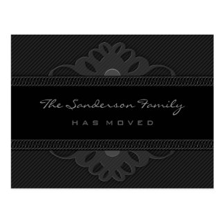 Postcard - Family has Moved - Regal Black Stripe