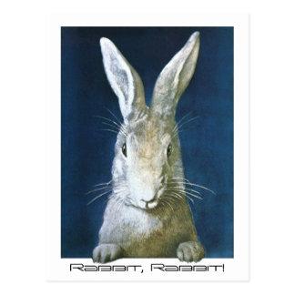 Postcard Family Memory Luck Saying Rabbit, Rabbit!